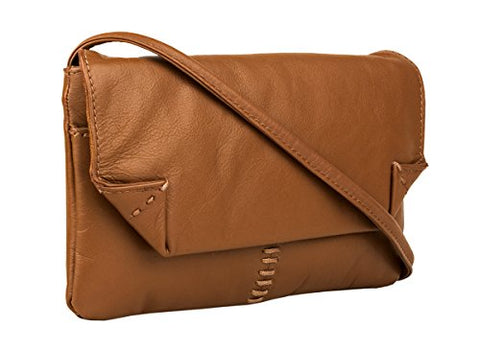 Hidesign Stitch Leather Handcrafted Cross Body, Tan
