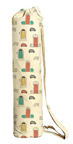 Urban Doodles Pattern Printed Canvas Yoga Mat Bags Carriers Was_41