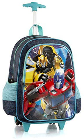 "Superheroes Transformers 16"" Softside Rolling Luggage Wheeled Backpack"