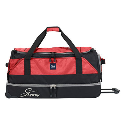 Skyway Sodo 34-inch Drop-Bottom Rolling Duffel, True Red