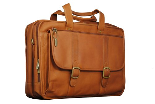 David King & Co. Expandable Laptop Briefcase, Tan, One Size