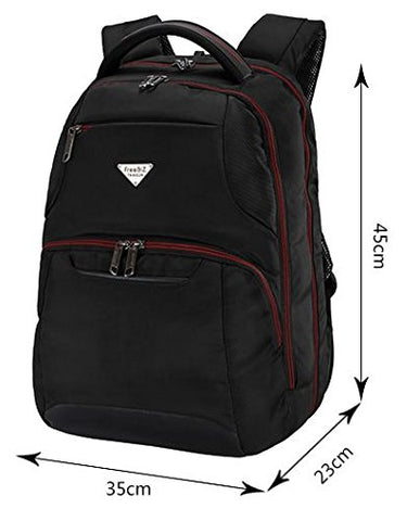 "FreeBiz Business, Travel & Work Water Repellent Laptop Backpack Suitalbe to Laptop 14"" or Below"