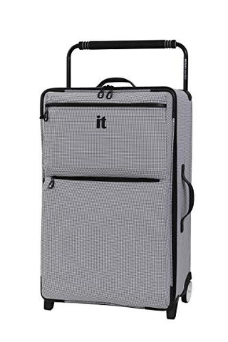 "IT Luggage 29.6"" World's Lightest Los Angeles 2 Wheel, Black/White"