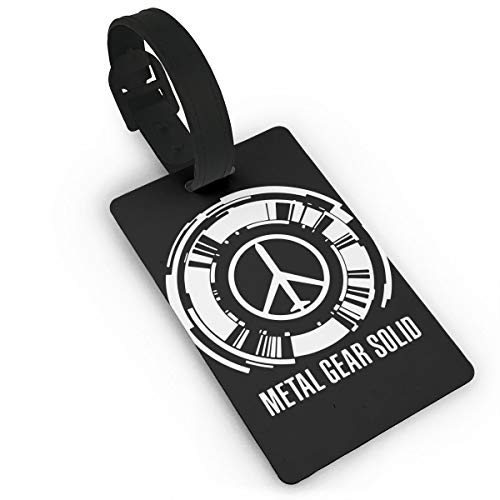LuckyTagy Metal Gear Particular Luggage Tag Initial Bag Tag Suitcase Tag Travel Bag