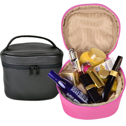 Royce Leather Chic Travel Cosmetic Makeup Bag