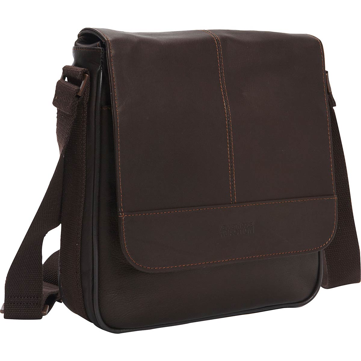 "Kenneth Cole Reaction ""A New Bag-inning"" Single Gusset Flapover Day Bag / iPad / Tablet Bag"