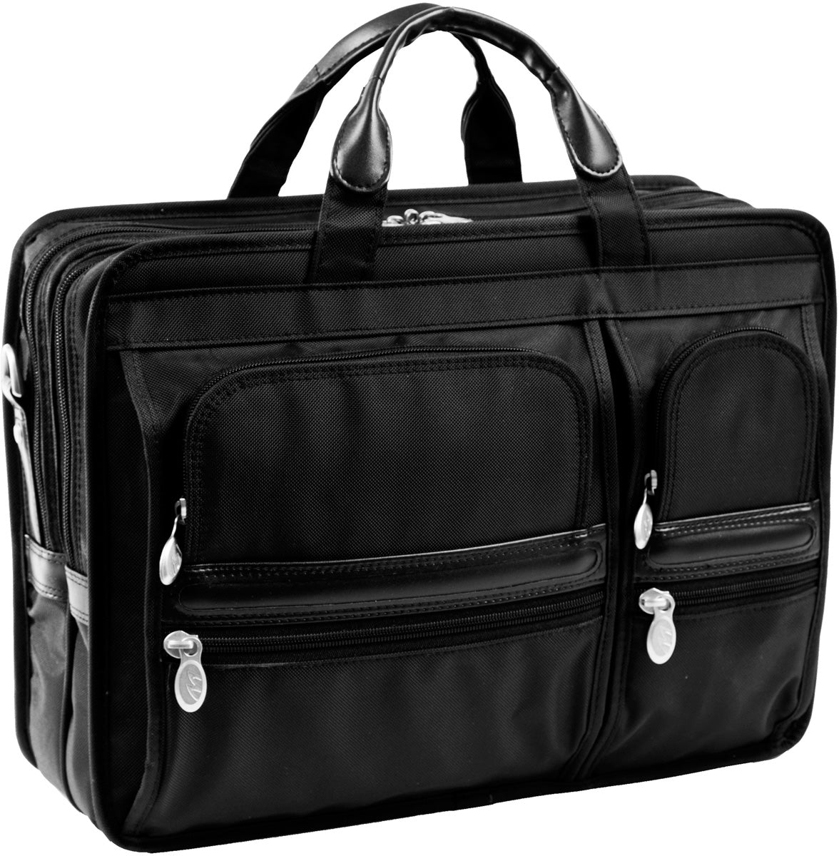 McKlein P Series Hubbard Nylon Dbl Compartment Laptop Case