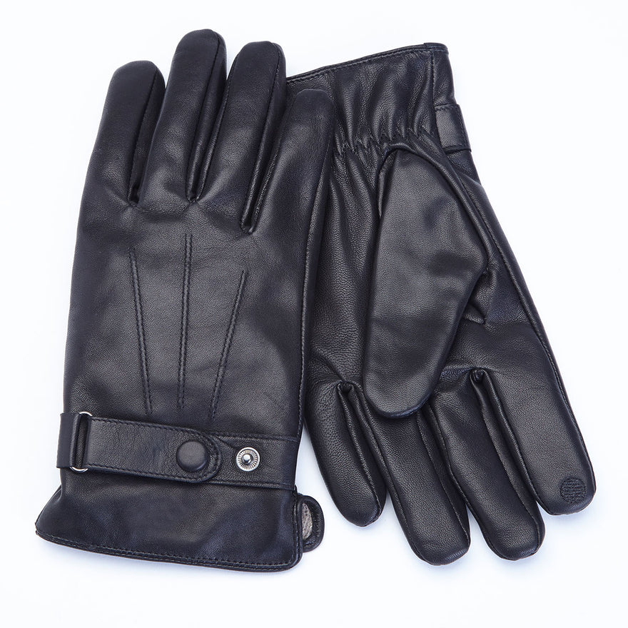 Royce Leather Premium Men's Lambskin Touchscreen Gloves - Large