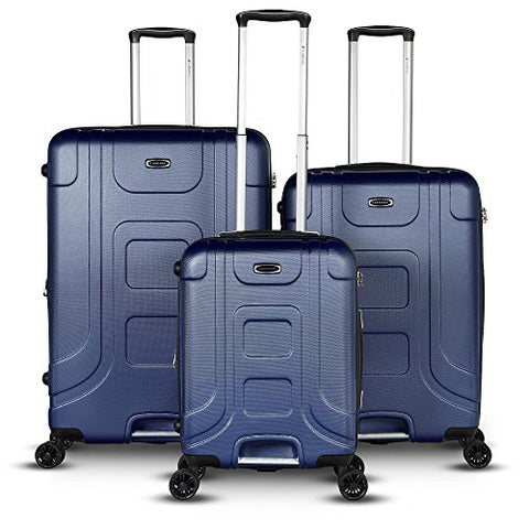 Gabbiano Luggage The Luca Collection 3 Piece Expandable Hardside Spinner Set