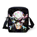 doginthehole Skull Design Mini Cross-body Phone Pouch Wallet Women Shoulder Handbag