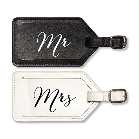 C.R. Gibson True Love 2-Piece Luggage Tag Set, Mr. And Mrs.