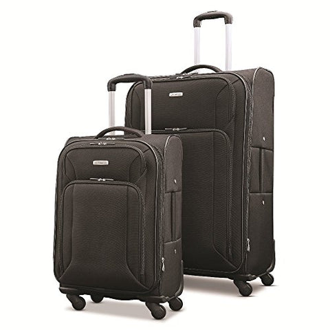 "Samsonite Victory 2 Piece Nested Softside Set (21""/29""), Black, Only At Amazon"
