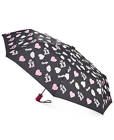 Betsey Johnson Xox Women'S Rock And Troll Color Changing Umbrella, Black