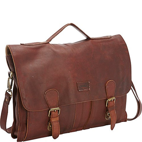 Sharo Leather Bags Soft Leather Laptop Messenger Bag and Brief XL (Brown)