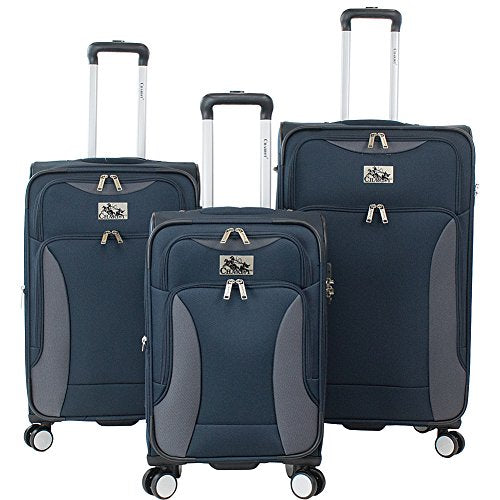 Chariot Madrid 3-Piece Luggage Set Navy