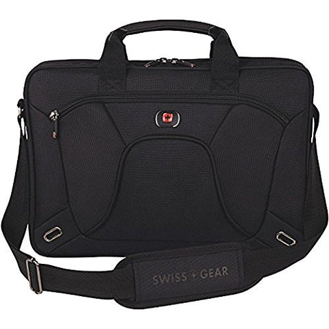 SwissGear(R) APPLICATION Laptop Slimcase With 16in. Laptop Pocket And Tablet/eReader Pocket, Black