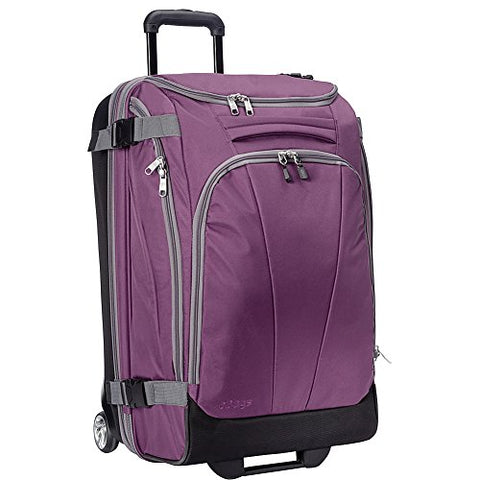 "eBags TLS Mother Lode Junior 25"" Rolling Duffel Bag Luggage - (Eggplant)"
