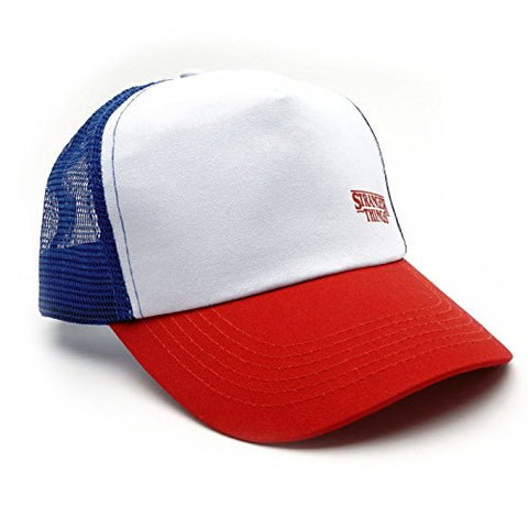 Loungefly Stranger Things Dustin's Red, White and Blue Trucker Hat