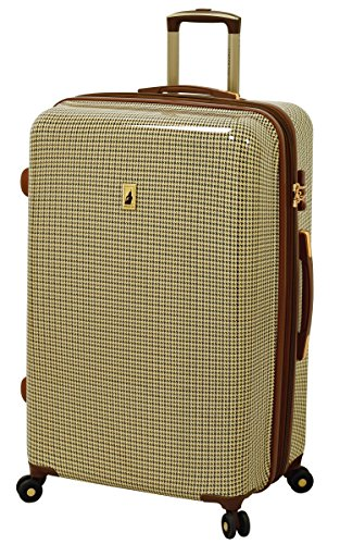 "London Fog Cambridge 29"" Expandable Hardside Spinner, Olive Plaid"