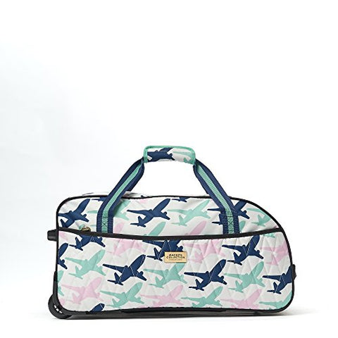 MacBeth Women's Take Me Away 21.5in Bag Rolling Duffel, Mint, One Size