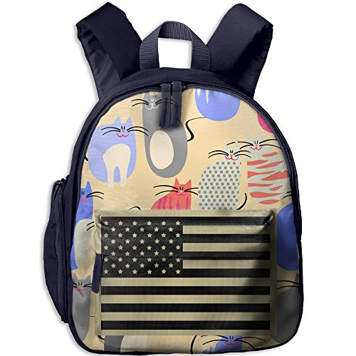 Subdued Us Flag Kid School Navy Rucksack
