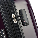 Delsey Luggage Helium Aero Carry-on Spinner Trolley, Plum