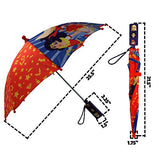 DC Comics Little Superhero Girls Character Rainwear Umbrella, red/Blue, Age 3-7