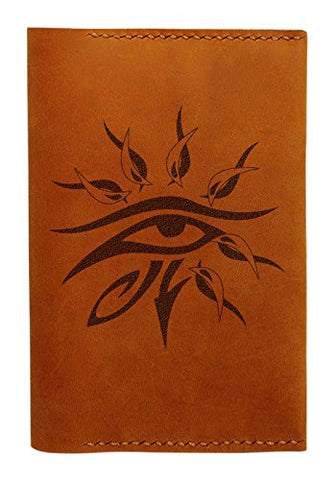 Horus'S Eye Handmade Genuine Leather Passport Holder Case Hlt_01