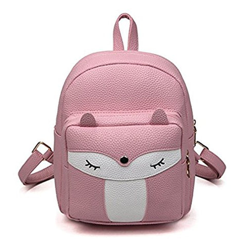 Cute Mini Leather Fox Fashion Backpack Small Daypacks Purse For Girls