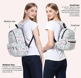 Lightweight Canvas Backpack for Women, Teens and Kids (Cat Grey Small V2)