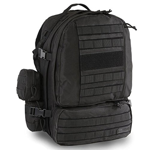 Highland Tactical Apollo Heavy Duty Backpack (HLBP29) (Black)