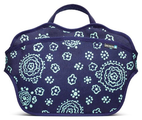 BYO 10-11-Inch Neoprene Netbook Bag, Batik Blue