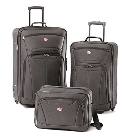 American Tourister Luggage Fieldbrook II 3 Piece Set (One Size, Charcoal)
