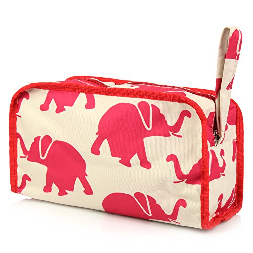 Zodaca Travel Cosmetic Makeup Organizer Case Bag Pouch, Elephant