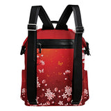 Colourlife Sakura Evening Butterflies Stylish Casual Shoulder Backpacks Laptop School Bags Travel