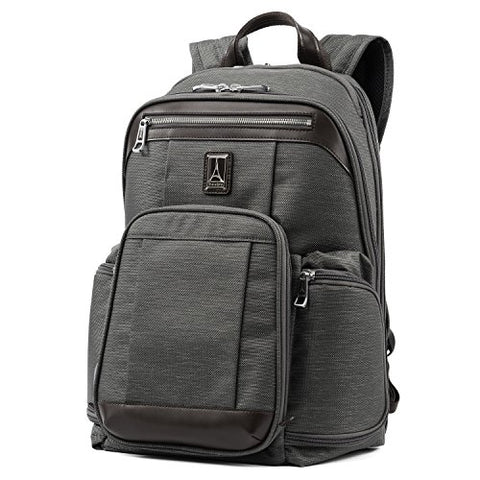"Travelpro Luggage Platinum Elite 17.5"" Business Computer Backpack, Vintage Grey, One Size"