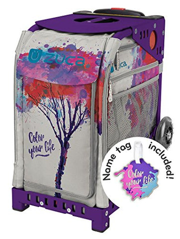 "Zuca ""Color Your Life"" Sport Insert Bag With Matching Name Tag - Choose Your Frame Color (Purple)"