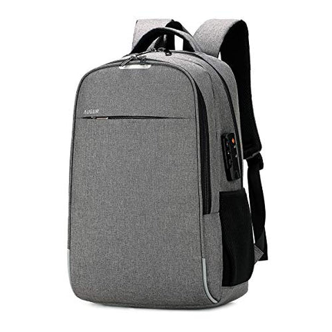 AUGUR Business Laptop Backpack, Anti Theft Slim Travel Computer Backpack with USB Charging Port,