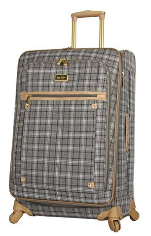 "Nicole Miller Paige Collection 20"" Expandable Carry On Luggage Spinner (20 in, Rosalie Grey)"