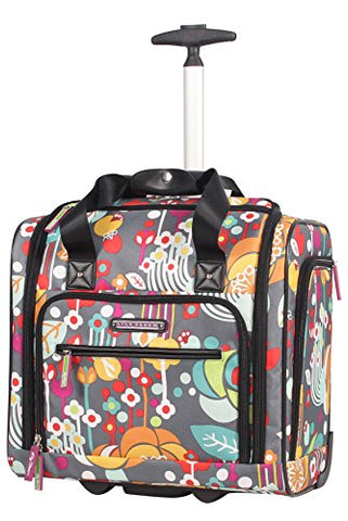 Lily Bloom Under The Seat Design Pattern Carry On Bag With Wheels (15In, Bliss)