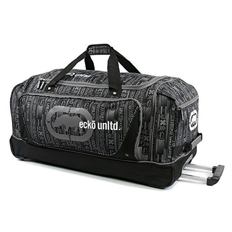 "Ecko Unltd Steam 32"" Large Rolling Duffel Bag, Grey, One Size"