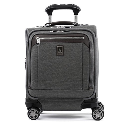 "Travelpro Luggage Platinum Elite 16"" Carry-on Spinner Tote with USB Port, Vintage Grey"