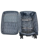 Chariot Naples 3-Piece Luggage Set Grey