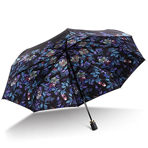 HOMEE Double vinyl umbrella uv protection umbrella foldable rain and rain umbrella