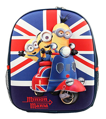 "Despicable Me Minion 12"" Medium Size Backpack For Toddler Kids Book Bag"