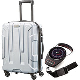 "Samsonite Centric Hardside 28"" Luggage Silver (102690-1776) With Samsonite Portable Luggage Scale"