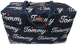Tommy Hilfiger Weekender Bag for Women Canvas, Navy/Fiery Red