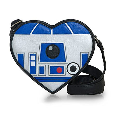 Loungefly Star Wars R2-D2 Heart Shaped Die Cut Crossbody Bag Purse STTB0108