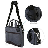 Vangoddy Wave Slim Charcoal Anti Theft Messenger Bag For Asus Zenbook / Vivobook / Transformer /