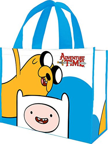 Vandor 13173 14 By 4 By 15-Inch Adventure Time Recycled Shopper Tote Bag, Large, Multicolored